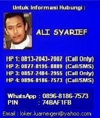 Kontak Info Lowongan Kerja Ke Luar Negeri  - Ali Syarief 0877-8195-8889 - 081320432002-Pin 74BAF1FB