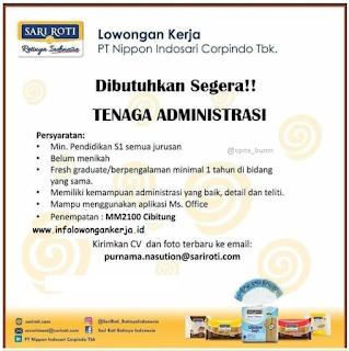 Info Lowongan Kerja PT. Nippon Indosari MM2100 Cibitung Administrasi