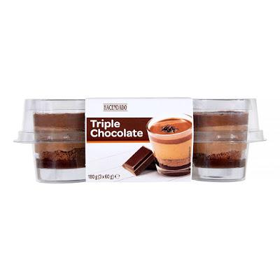 Postre triple chocolate Hacendado