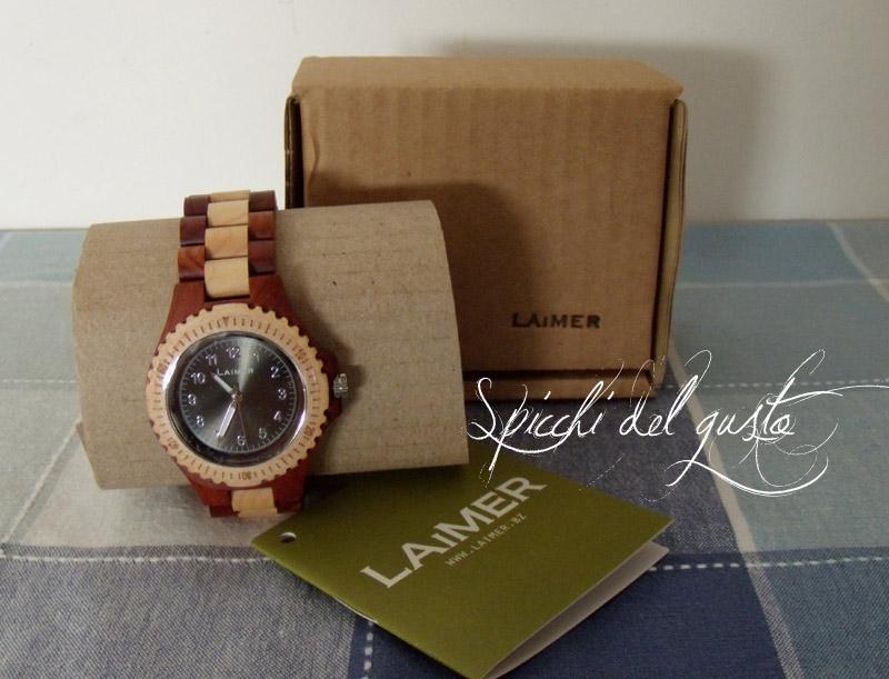 orologio da polso realizzato in legno