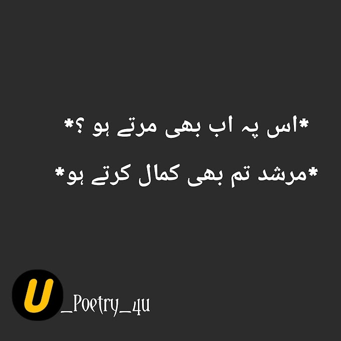 MURSHID TUM BHI KAMAL KARTAY HO || Urdupoetrywala4u
