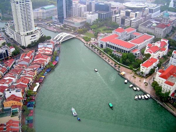 Ngắm nhìn vẻ đẹp tuyệt vời của sông Singapore từ trên cao