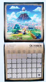 October 2021 in the Pyramid calendar with the Link's Awakening remake cover art