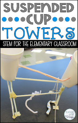STEM Challenge- Suspended Cup Towers- The idea with the suspended cup tower is that two cups must be at the top level of the tower. The tower has to be a certain height and the cups must be as far away from one another as possible.