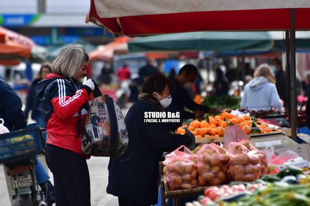 Η λίστα με τους παραγωγούς και πωλητές της λαϊκής αγοράς στο Ναύπλιο την Τετάρτη 25/11