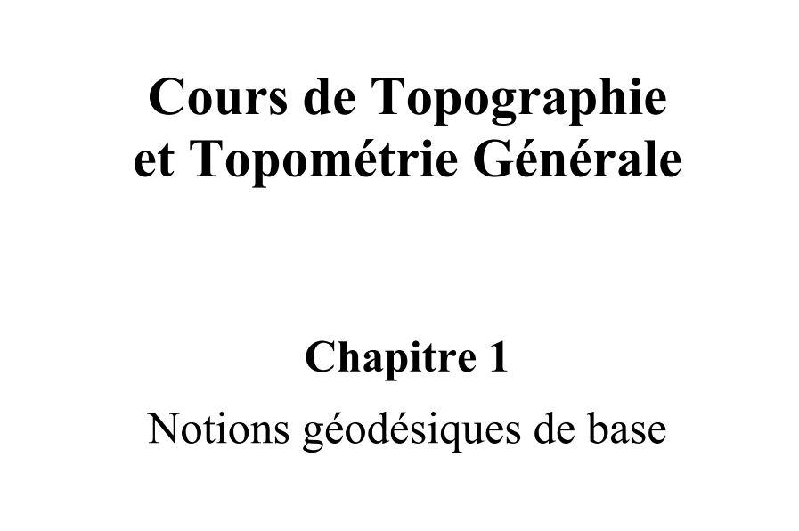 le cours complet gratuit de topographie et topométrie pdf