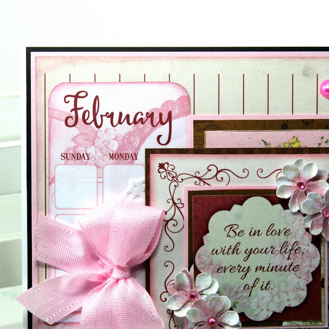 Love Life Valentine Greeting Card by Ginny Nemchak using BoBunny On This Day in January