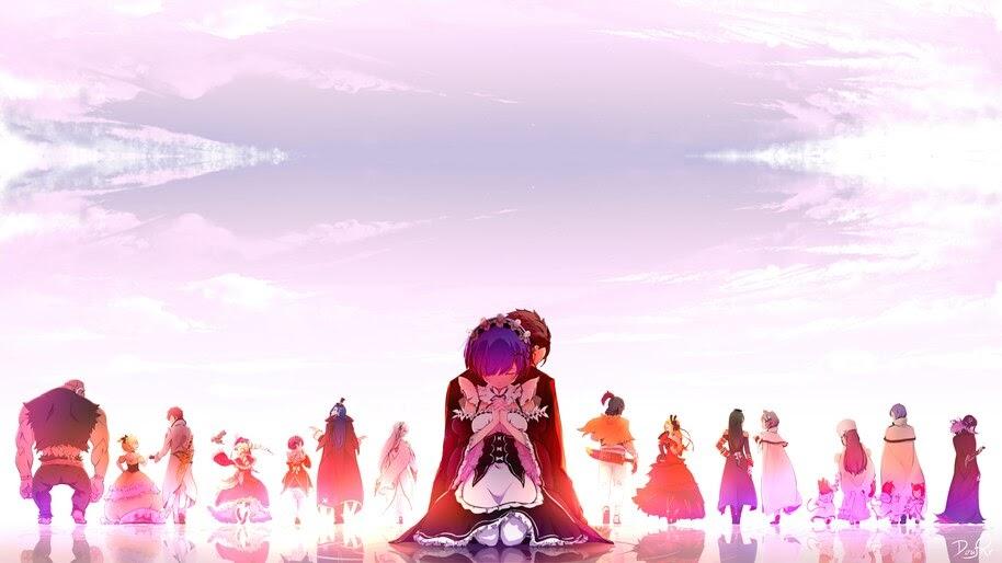 Rem, Subaru, Re:Zero, Anime, Characters, 8K, #4.2687