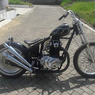 Dijual Kustom Motor Chopper Karena Sakit Pinggang