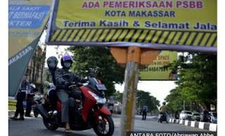 Pemkot Makassar Masih Pikir Pikir PSBB Tahap III