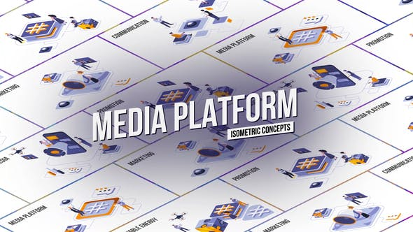 Media Platform - Isometric Concept[Videohive][After Effects][28986908]