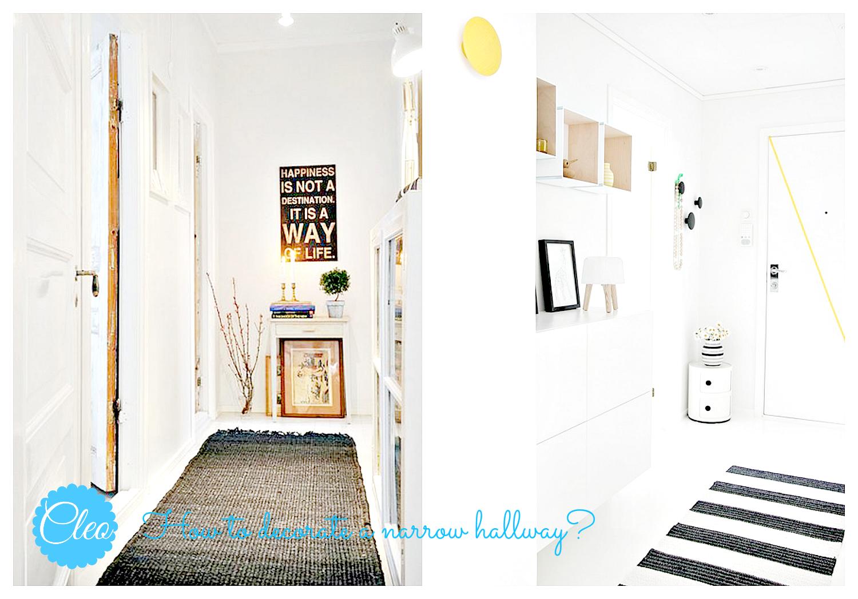 wąski korytarz z dywanem