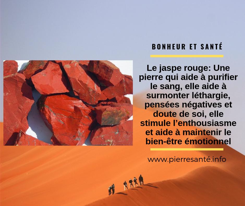 Les vertus de la pierre Jaspe rouge