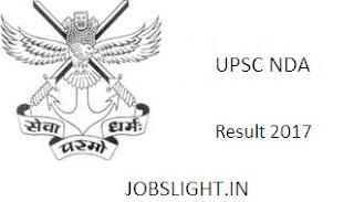 UPSC NDA Result 2017