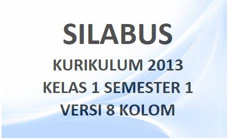 Silabus Tematik Kelas 1 Semester 1 8 Kolom