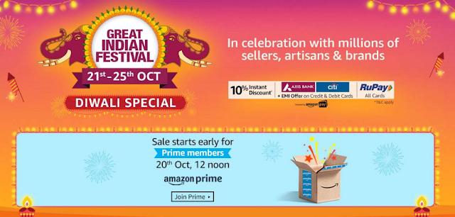 Amazon Great Indian Festival Diwali Sale 2019