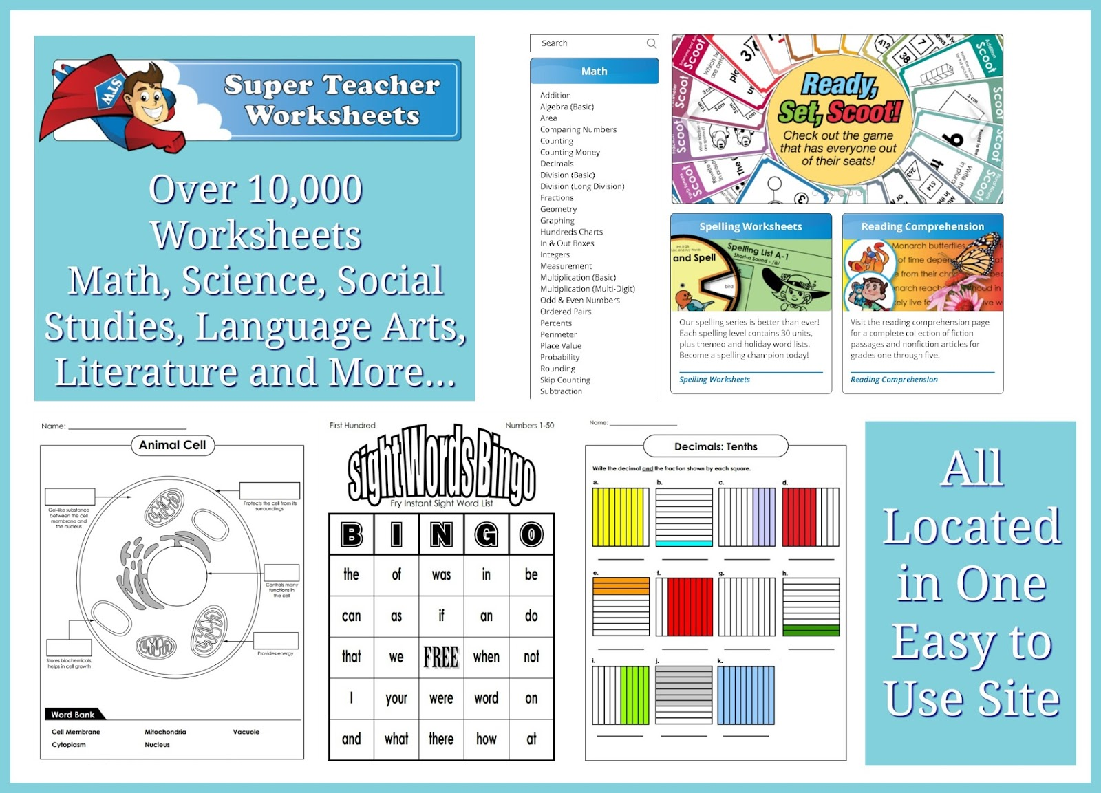 Individual Membership - Super Teacher Worksheets {Reviews ...