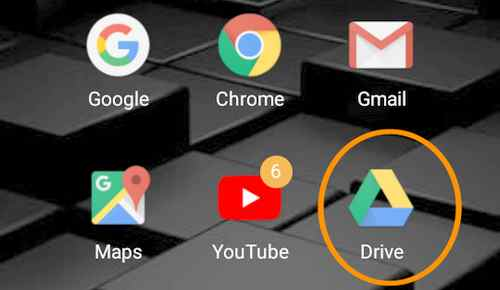sharing foto di google drive via android
