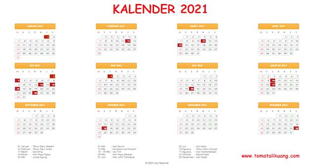 kalender tahun 2021 tomatalikuang.com