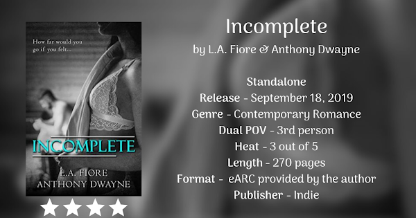 INCOMPLETE by L.A. Fiore & Anthony Dwayne