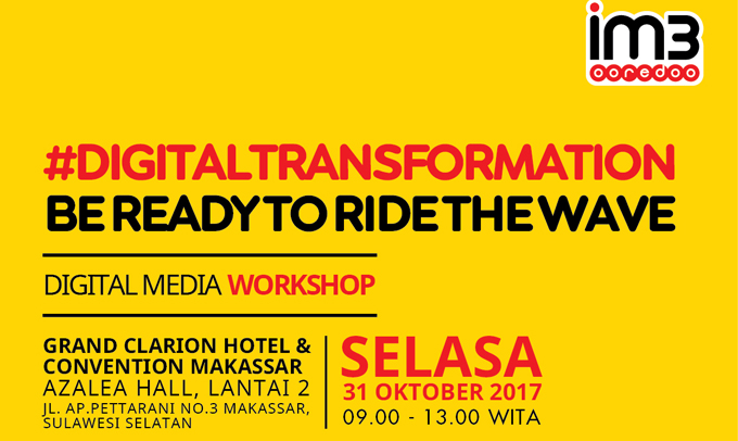 IM3 Ooredoo Akan Gelar Digital Media Workshop di Makassar