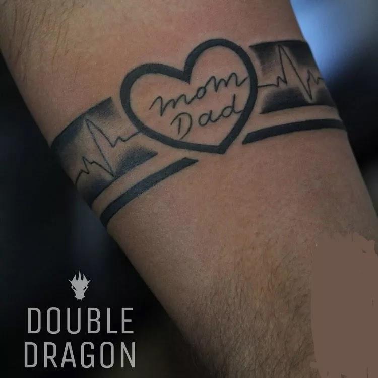 Mom & Dad Armband Tattoo Design Ideas