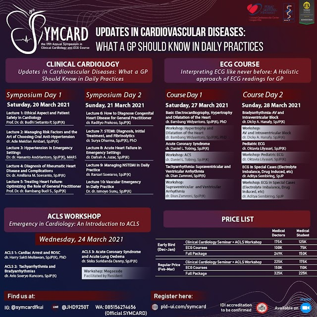 """[Main Event Webinar Kardiologi 19th SYMCARD]  """"19th SYMCARD: What a GP should know in daily practices"""""""