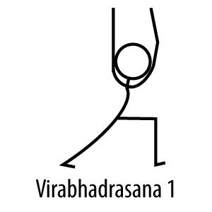 The Elegant Klutz: Virbhadrasana 1 or