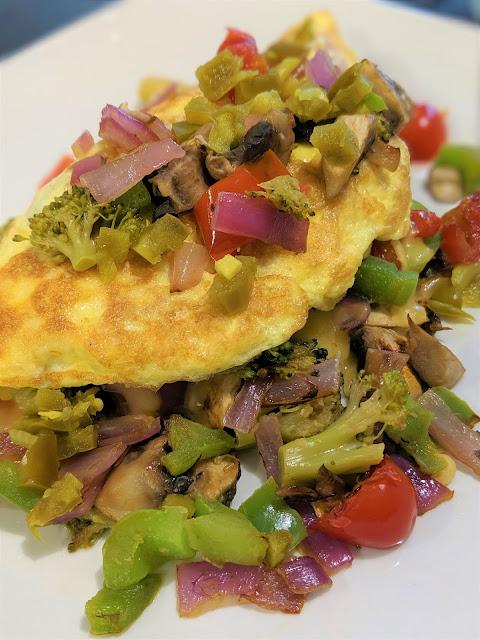 The Best Damn Veggie Omelet