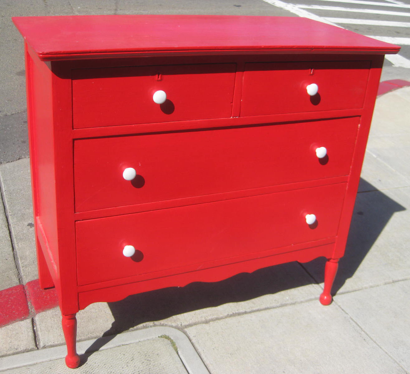 UHURU FURNITURE  COLLECTIBLES SOLD  Red Dresser  90