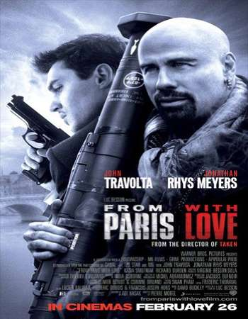 Poster Of From Paris with Love 2010 Dual Audio 300MB BRRip 480p Free Download Watch Online Worldfree4u