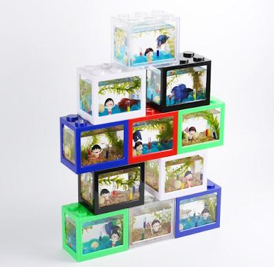 Lego Brick Shape Aquarium Tanks 4