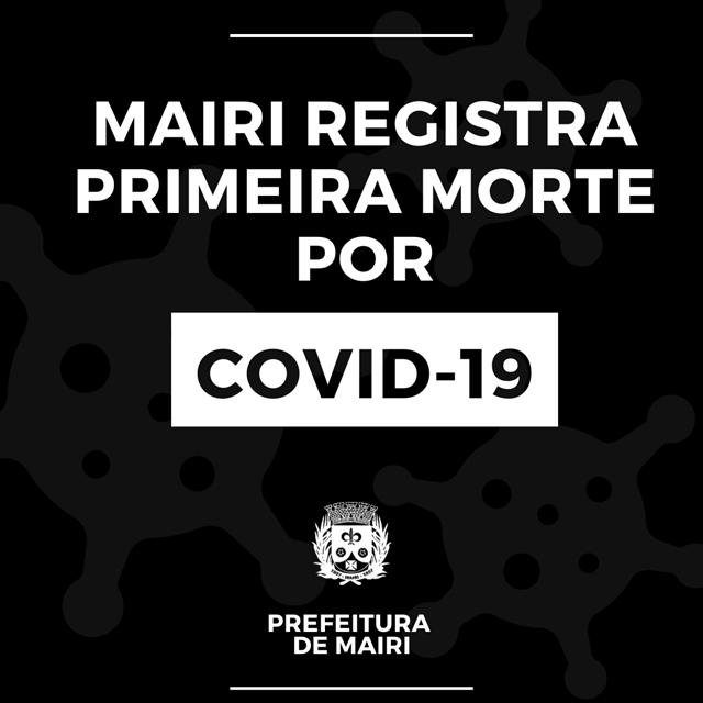 Mairi registra morte por Covid-19