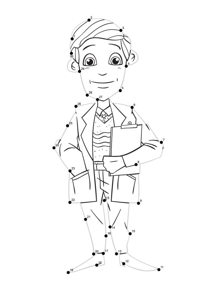 doctor dot tracing worksheet