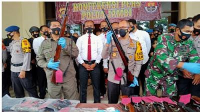 Polda Jambi Bersama Polres Kerinci, Amankan 4 Orang TSK Sengketa Lahan