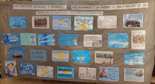 Producciones de las escuelas en la Bandera colaborativa