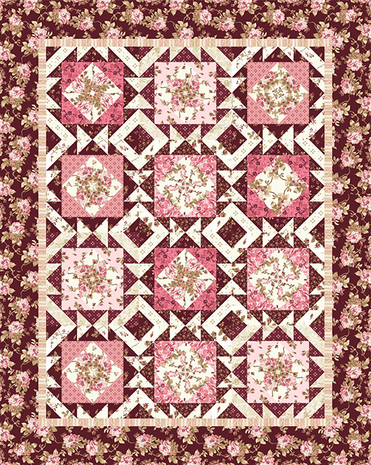 Burgundy and Blush designed by Monique Jacobs, The Pattern by Bear Creek Quilting Company