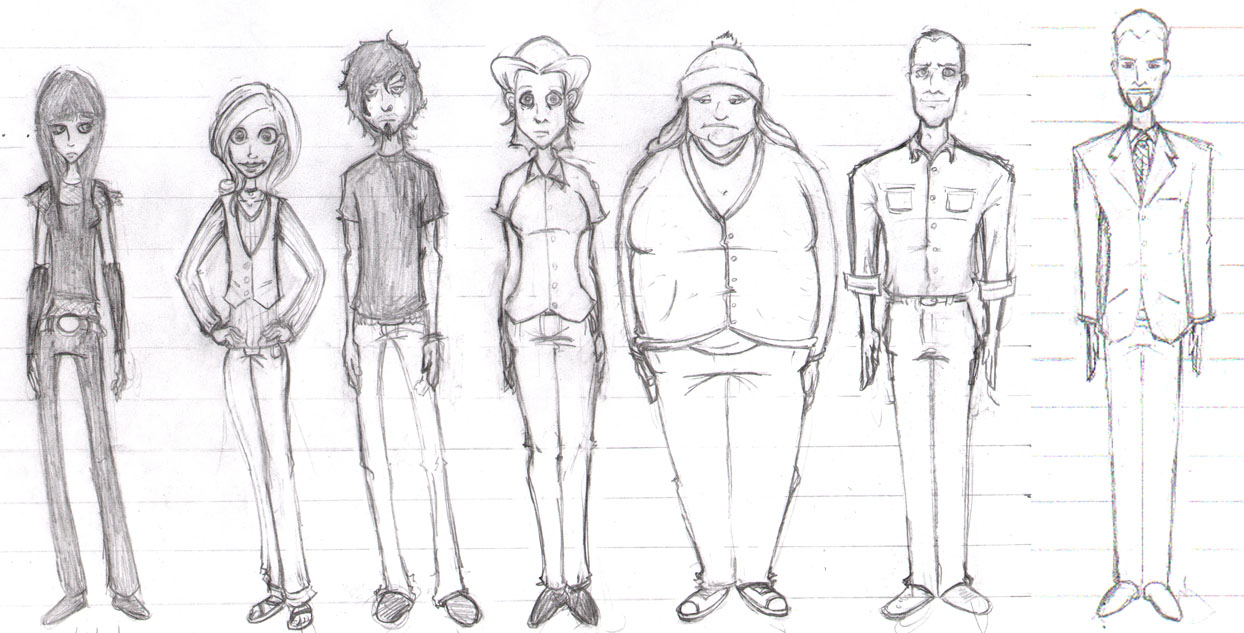 Russell Nohelty: Character Designs for My Father Didn't