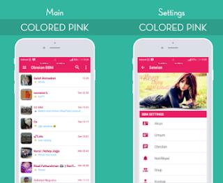 BBM Mod Colored Pink V3.2.5.12 Apk