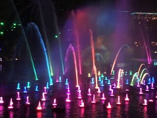 World of Color Tall Fountains From Lamplight Lounge