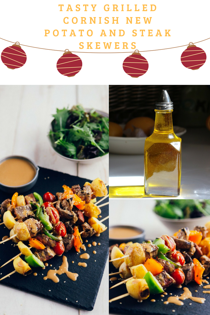 Tasty Grilled Cornish New Potato And Steak Skewers
