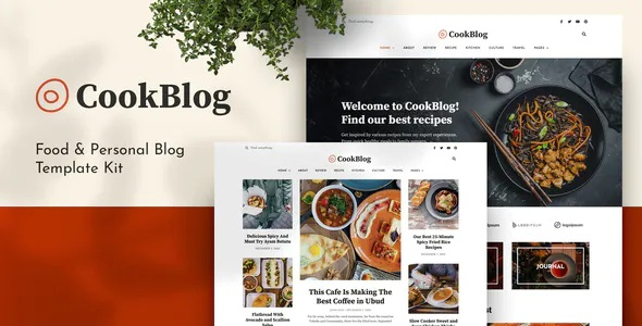 Best Food and Personal Blog Elementor Template Kit