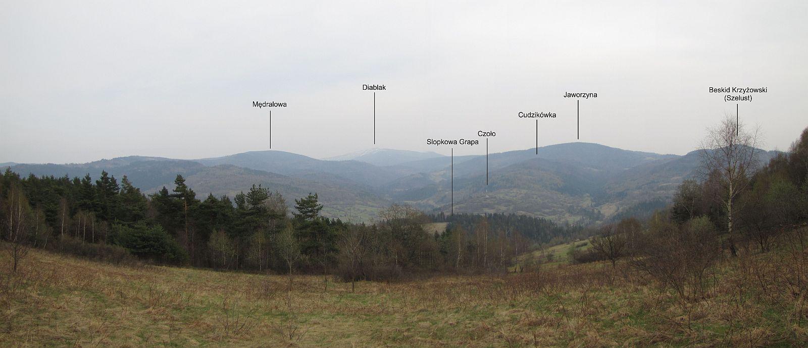 Panorama w kierunku Babiej Góry.