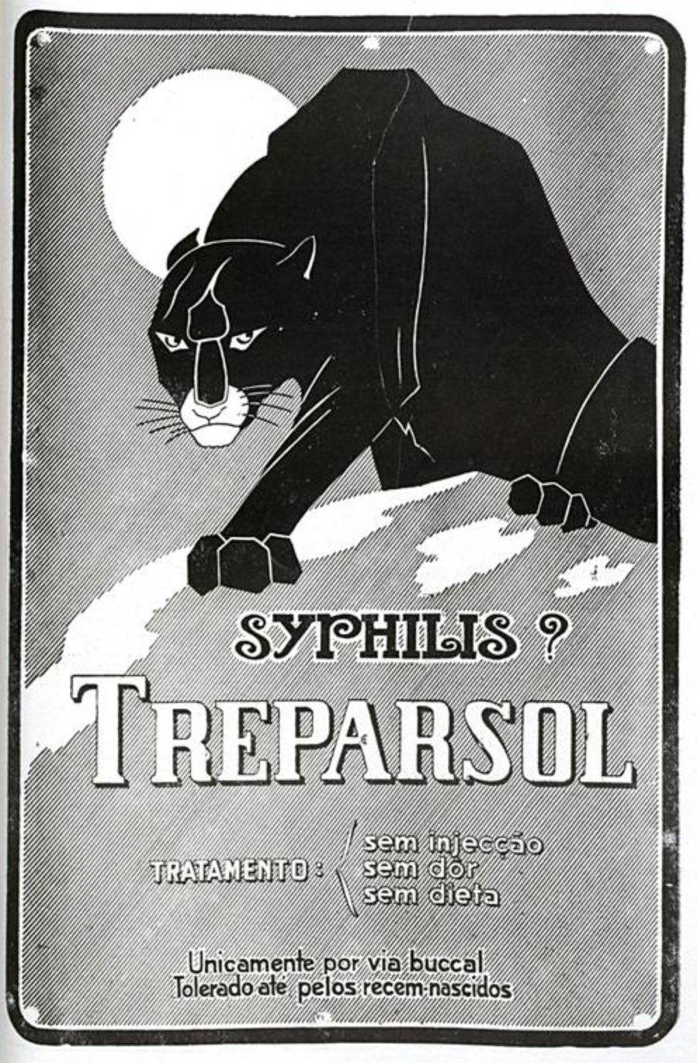 Anúncio de 1925 apresentava medicamento para combater a sífilis