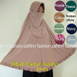 jilbab syar'i rempel cadar bahan jersey