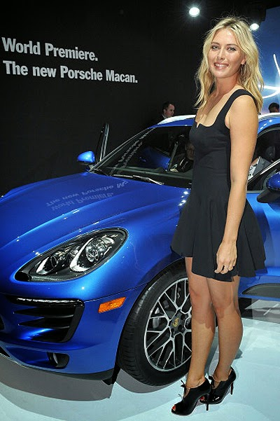 Maria Sharapova on the car presentation
