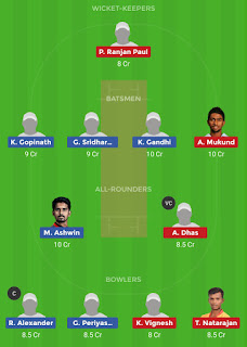 Dream11 team for CHE vs LYC 13th Match | Fantasy cricket tips | Playing 11 | TNPL Dream11 Team