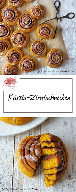 Kürbis-Zimtschnecken | Rezept | Backen | Hefeteig | Kuchen