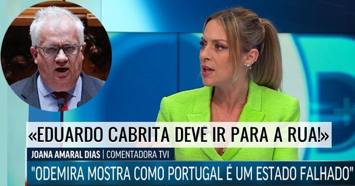 «Como é que é possível Costa manter Eduardo Cabrita?» Joana Amaral