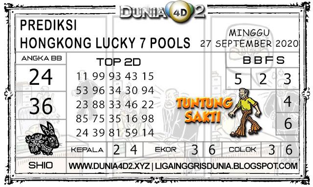 Prediksi Togel HONGKONG LUCKY7 DUNIA4D2 27 SEPTEMBER 2020